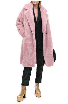 Женская шуба METEO YVES SALOMON розового цвета, арт. 21WMM00104LATI | Фото 2