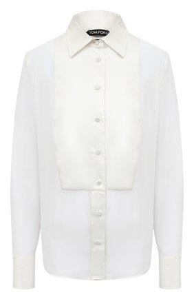Женская шелковая блузка TOM FORD белого цвета, арт. CA3165-FAX058 | Фото 1