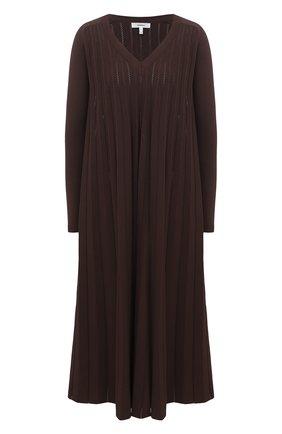 Женское платье из вискозы CASASOLA коричневого цвета, арт. DRS-C-CARLA/VISC0SE | Фото 1
