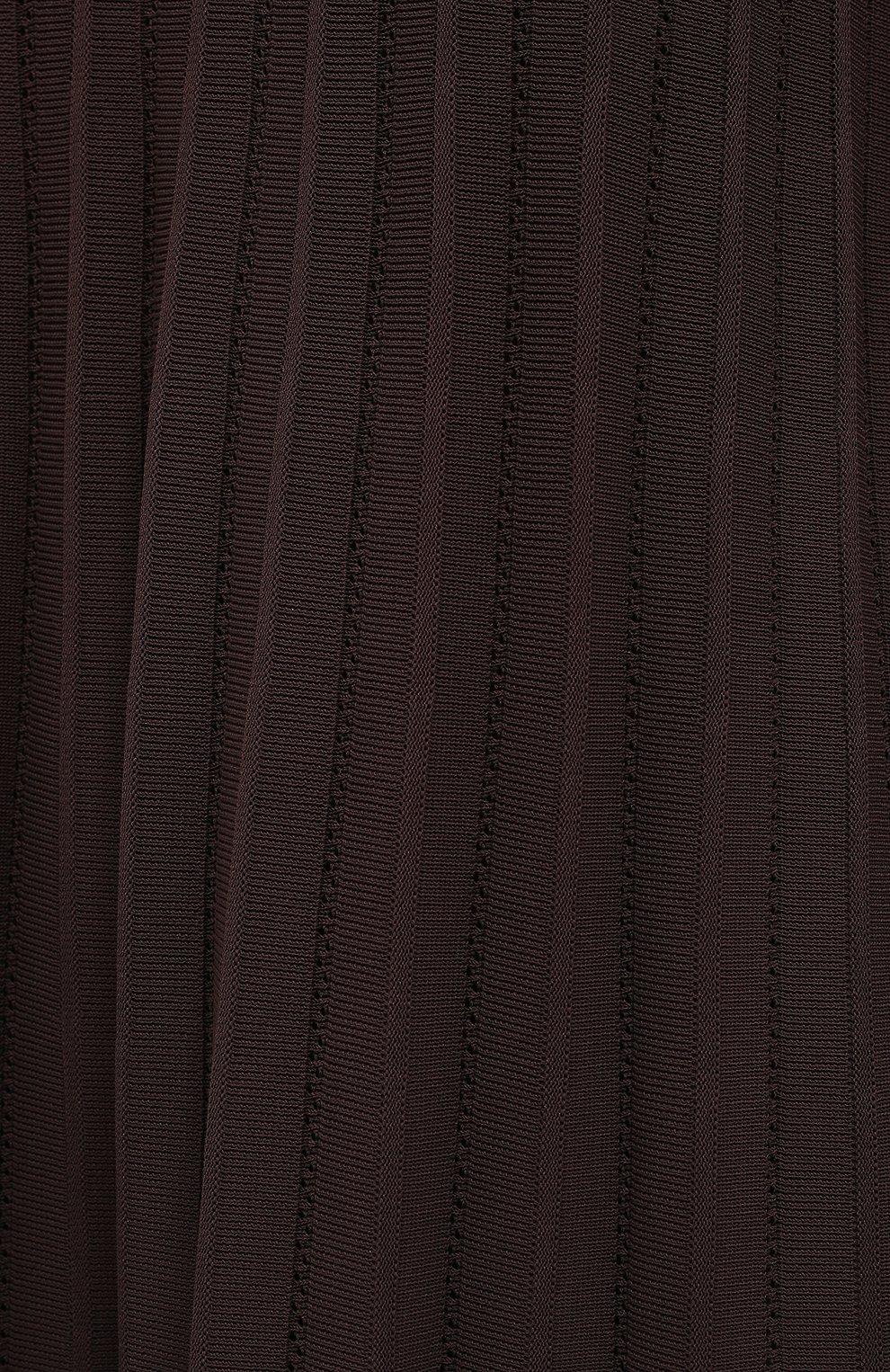 Женское платье из вискозы CASASOLA коричневого цвета, арт. DRS-C-CARLA/VISC0SE | Фото 5 (Рукава: Длинные; Случай: Повседневный; Длина Ж (юбки, платья, шорты): Миди; Материал внешний: Вискоза; Женское Кросс-КТ: Платье-одежда)