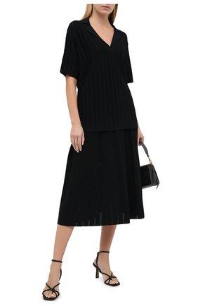Женская юбка из вискозы CASASOLA черного цвета, арт. SKT-C-0T0NELLA/VISC0SE | Фото 2