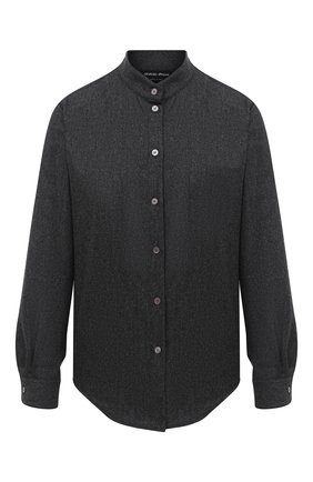 Женская шерстяная рубашка GIORGIO ARMANI темно-серого цвета, арт. 0WHCCZ20/TZ639   Фото 1