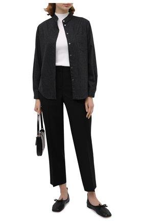 Женская шерстяная рубашка GIORGIO ARMANI темно-серого цвета, арт. 0WHCCZ20/TZ639   Фото 2