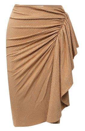 Женская юбка из вискозы ALEXANDRE VAUTHIER бежевого цвета, арт. 203SK1303B 1029C-203 | Фото 1