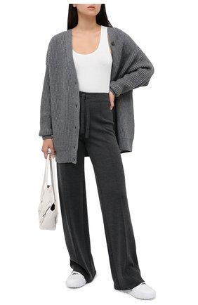 Женские шерстяные брюки MRZ серого цвета, арт. FW20-0133 | Фото 2
