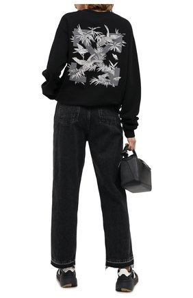 Женский хлопковый свитшот OFF-WHITE черного цвета, арт. 0WBA055F20JER0061009   Фото 2