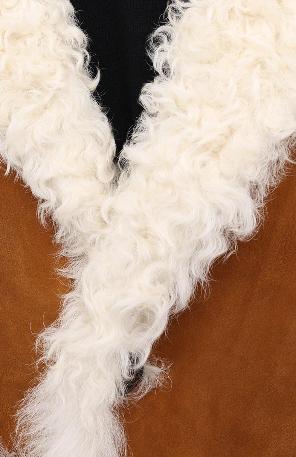 Женская дубленка DSQUARED2 бежевого цвета, арт. S72AA0448/SY1520 | Фото 6