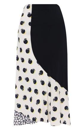 Женская шелковая юбка STELLA MCCARTNEY белого цвета, арт. 601965/SPA19 | Фото 1