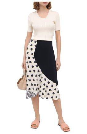 Женская шелковая юбка STELLA MCCARTNEY белого цвета, арт. 601965/SPA19 | Фото 2