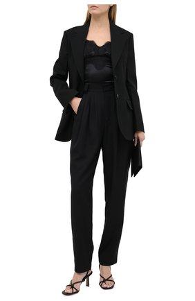 Женская топ из шелка и хлопка DOLCE & GABBANA черного цвета, арт. F7W01T/FURAG | Фото 2