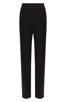 Женские шерстяные брюки DRIES VAN NOTEN темно-коричневого цвета, арт. 202-10902-1224 | Фото 1