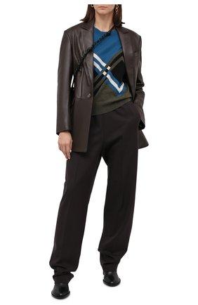 Женские шерстяные брюки DRIES VAN NOTEN темно-коричневого цвета, арт. 202-10902-1224 | Фото 2