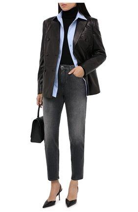 Женские джинсы JACOB COHEN серого цвета, арт. KIMMY 01292-W2/54 | Фото 2
