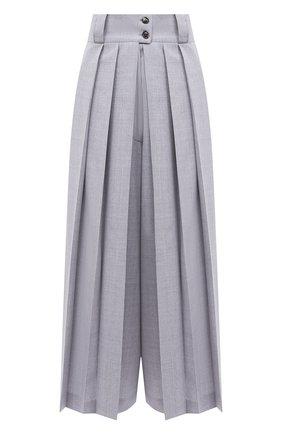 Женский шерстяные кюлоты KITON серого цвета, арт. D50211K05L34 | Фото 1