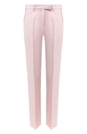 Женские шерстяные брюки GOLDEN GOOSE DELUXE BRAND светло-розового цвета, арт. GWP00172.P000153 | Фото 1