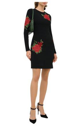 Женское платье DOLCE & GABBANA черного цвета, арт. F6K6TZ/GD0Q4 | Фото 2