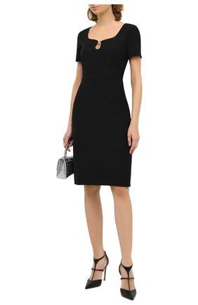 Женское платье из шелка и шерсти GUCCI черного цвета, арт. 631484/ZAD88   Фото 2