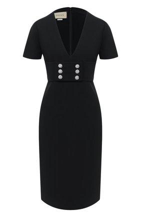 Женское платье GUCCI черного цвета, арт. 626857/ZAD88   Фото 1