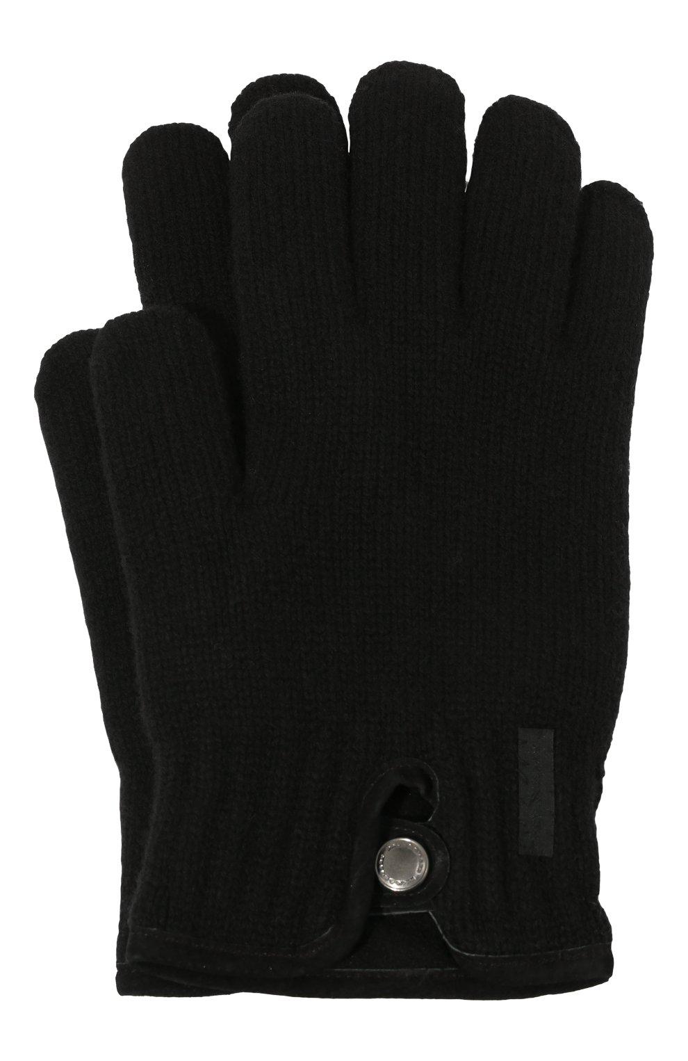 Мужские перчатки PAUL&SHARK черного цвета, арт. I20P7200/H1U   Фото 1