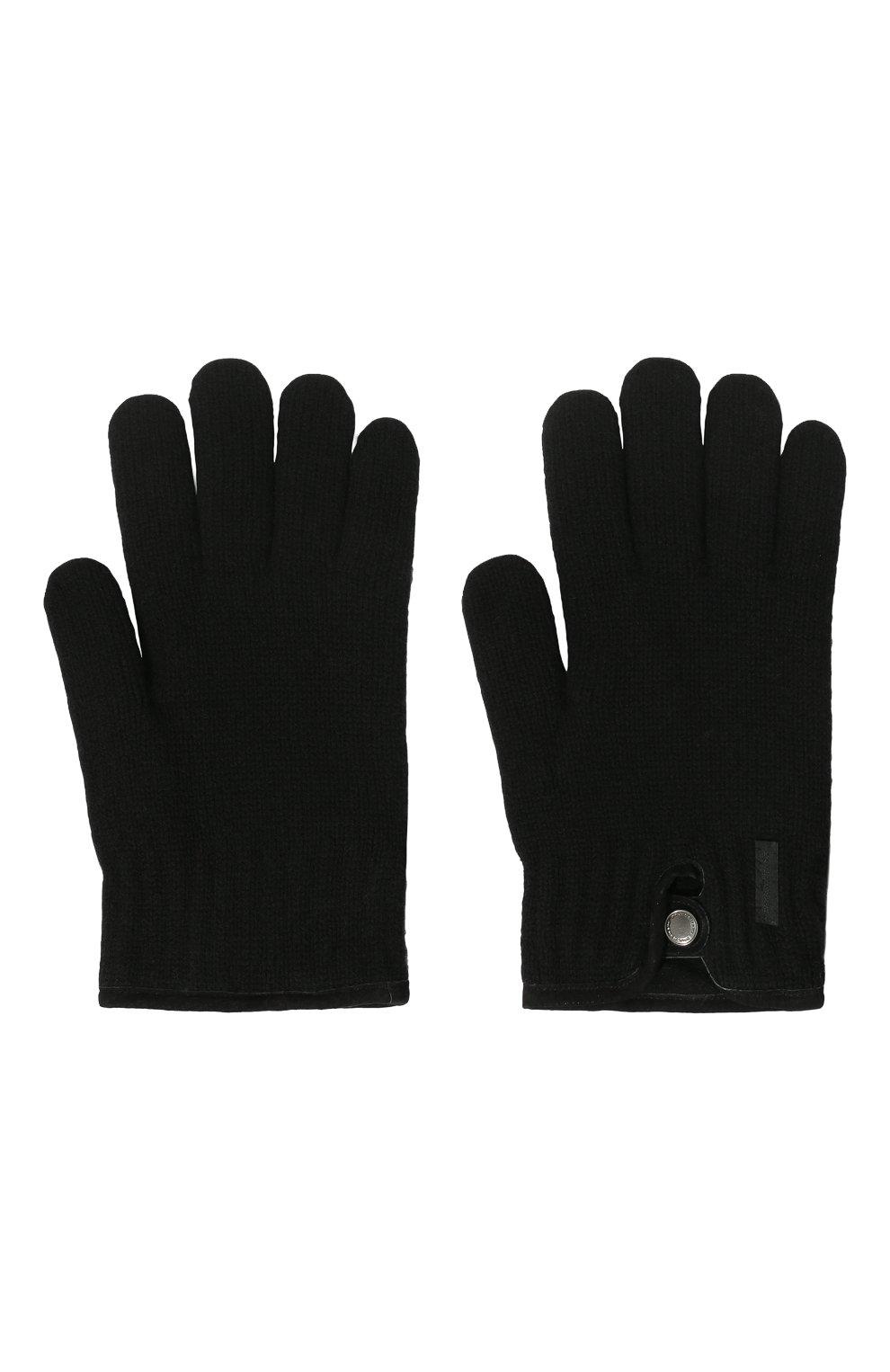 Мужские перчатки PAUL&SHARK черного цвета, арт. I20P7200/H1U   Фото 2