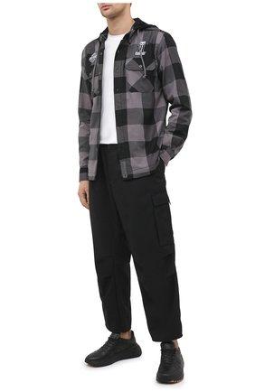 Мужская хлопковая куртка-рубашка garage HARLEY-DAVIDSON серого цвета, арт. 99007-20VM | Фото 2 (Материал подклада: Синтетический материал, Хлопок; Рукава: Длинные; Материал внешний: Хлопок; Длина (верхняя одежда): Короткие; Мужское Кросс-КТ: Верхняя одежда, Куртка-верхняя одежда; Стили: Кэжуэл; Кросс-КТ: Ветровка, Куртка)