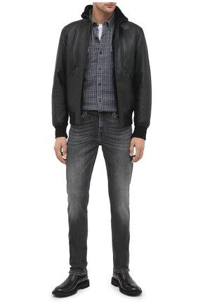Мужская хлопковая рубашка general motorclothes HARLEY-DAVIDSON синего цвета, арт. 99008-20VM | Фото 2 (Рукава: Длинные; Длина (для топов): Стандартные; Материал внешний: Хлопок; Случай: Повседневный; Стили: Кэжуэл; Воротник: Кент)