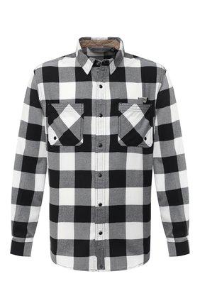 Мужская хлопковая рубашка general motorclothes HARLEY-DAVIDSON черно-белого цвета, арт. 99017-20VM | Фото 1 (Длина (для топов): Стандартные; Материал внешний: Хлопок; Рукава: Длинные; Случай: Повседневный; Стили: Кэжуэл; Воротник: Кент)
