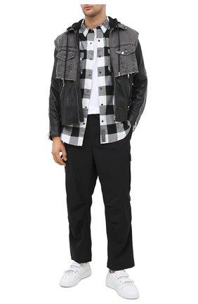 Мужская хлопковая рубашка general motorclothes HARLEY-DAVIDSON черно-белого цвета, арт. 99017-20VM | Фото 2 (Длина (для топов): Стандартные; Материал внешний: Хлопок; Рукава: Длинные; Случай: Повседневный; Стили: Кэжуэл; Воротник: Кент)