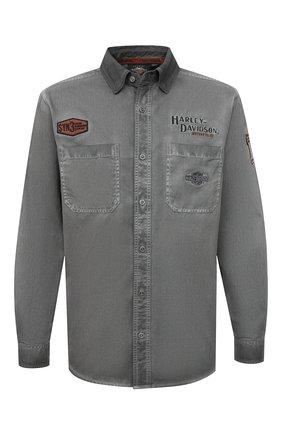 Мужская хлопковая рубашка general motorclothes HARLEY-DAVIDSON серого цвета, арт. 99020-17VM | Фото 1