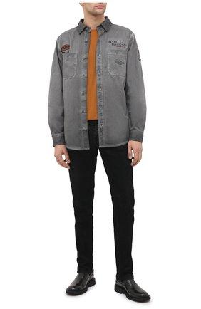 Мужская хлопковая рубашка general motorclothes HARLEY-DAVIDSON серого цвета, арт. 99020-17VM | Фото 2