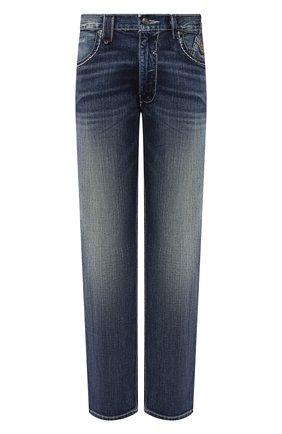 Мужские джинсы general motorclothes HARLEY-DAVIDSON синего цвета, арт. 99030-16VM | Фото 1 (Длина (брюки, джинсы): Стандартные; Материал внешний: Хлопок; Силуэт М (брюки): Прямые; Стили: Кэжуэл)