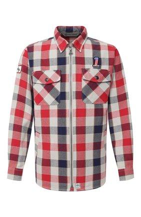 Мужская хлопковая рубашка general motorclothes HARLEY-DAVIDSON разноцветного цвета, арт. 99194-19VM | Фото 1 (Длина (для топов): Стандартные; Материал внешний: Хлопок; Рукава: Длинные; Случай: Повседневный; Принт: Клетка; Стили: Кэжуэл; Манжеты: На пуговицах; Воротник: Кент)
