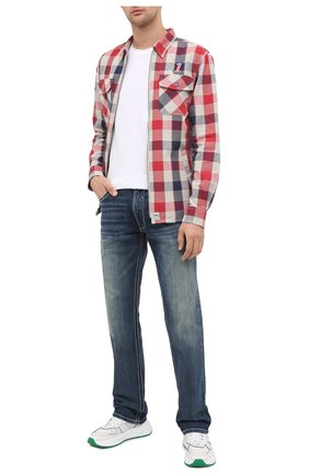 Мужская хлопковая рубашка general motorclothes HARLEY-DAVIDSON разноцветного цвета, арт. 99194-19VM | Фото 2 (Длина (для топов): Стандартные; Материал внешний: Хлопок; Рукава: Длинные; Случай: Повседневный; Принт: Клетка; Стили: Кэжуэл; Манжеты: На пуговицах; Воротник: Кент)