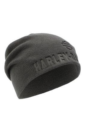 Мужская шапка general motorclothes HARLEY-DAVIDSON серого цвета, арт. 99430-18VM | Фото 1