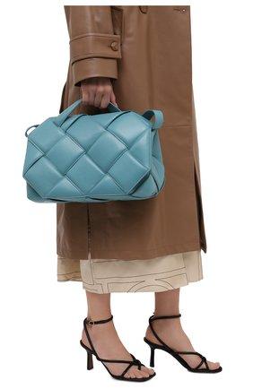 Женская сумка bv handle BOTTEGA VENETA голубого цвета, арт. 632647/VCQR1 | Фото 2