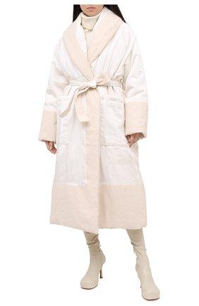 Женское пальто JIL SANDER белого цвета, арт. JSPR430211-WR392200A | Фото 2
