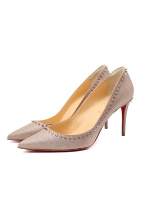 Женская туфли anjalina 85 CHRISTIAN LOUBOUTIN бронзового цвета, арт. anjalina 85 glitter mini | Фото 1
