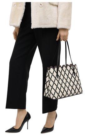 Женский сумка-тоут valentino garavani VALENTINO черно-белого цвета, арт. UW2B0H32/YFY | Фото 2