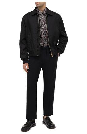 Мужская шелковая рубашка ZILLI коричневого цвета, арт. MFU-27001-1668/0006 | Фото 2