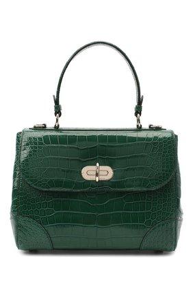 Женская сумка из кожи аллигатора tiffin 27 RALPH LAUREN зеленого цвета, арт. 435619990/AMIS | Фото 1