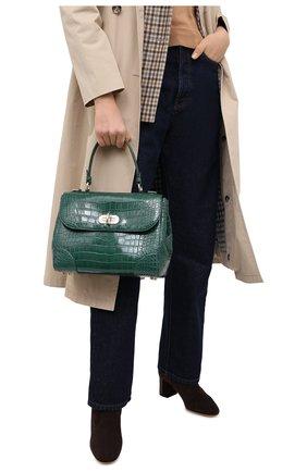 Женская сумка из кожи аллигатора tiffin 27 RALPH LAUREN зеленого цвета, арт. 435619990/AMIS | Фото 2