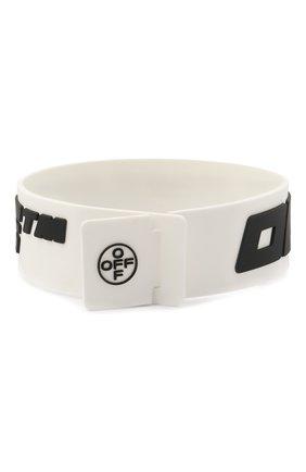 Мужской браслет OFF-WHITE белого цвета, арт. 0M0A015E20MAT0010110 | Фото 2
