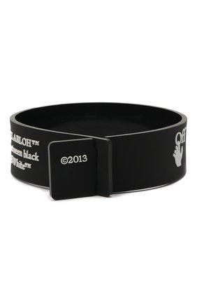 Мужской браслет OFF-WHITE черного цвета, арт. 0M0A015E20MAT0021001 | Фото 2
