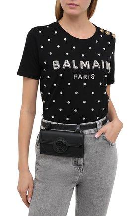Женская поясная сумка BALMAIN черного цвета, арт. UN1S552/LMJR   Фото 2