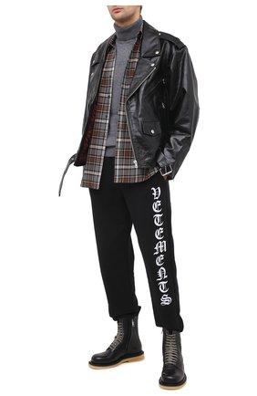 Мужской хлопковые джоггеры VETEMENTS черного цвета, арт. MAH21TR644 1601/W | Фото 2
