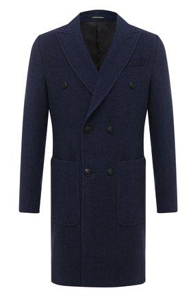 Мужской пальто из шерсти и кашемира EMPORIO ARMANI синего цвета, арт. 91LCR0/91913 | Фото 1