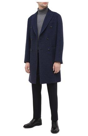 Мужской пальто из шерсти и кашемира EMPORIO ARMANI синего цвета, арт. 91LCR0/91913 | Фото 2