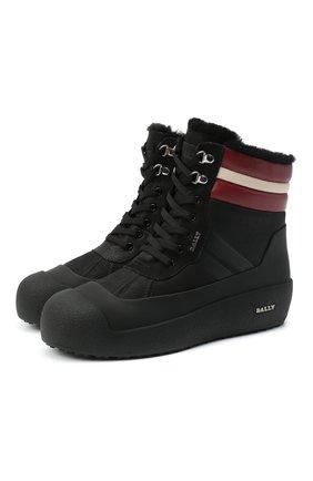 Мужские кожаные ботинки curton BALLY черного цвета, арт. CURT0N/40 | Фото 1
