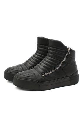 Мужские кожаные ботинки VIC MATIE черного цвета, арт. 1Y5511U.V02C7CB001 | Фото 1