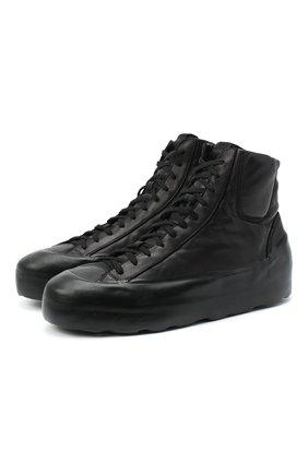 Мужские кожаные кеды RBRSL черного цвета, арт. 7Y2021U.Y44C6NB001 | Фото 1